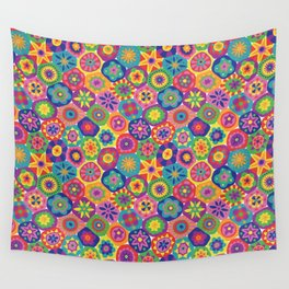 Millefiori-Crayon Colors Wall Tapestry