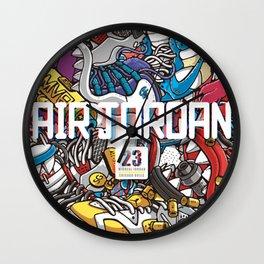 Jordan Sneaker Pattern illustration Wall Clock