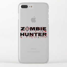 Zombie Hunter - Horror Infects Undead Blood Stain Clear iPhone Case