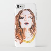 cigarette iPhone & iPod Cases featuring E Cigarette  by Liz Slome