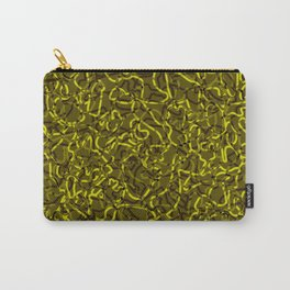 Chaotic bright tangled ropes and yellow dark lines. Carry-All Pouch