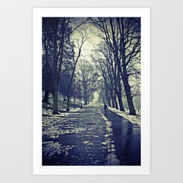 A walk through the park I Art Print