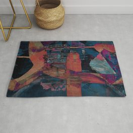 disquiet seventeen (spontaneous self assembly) Rug