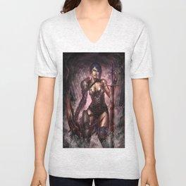 Female Warrior Unisex V-Neck