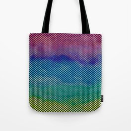 Rainbow Mermaid Tail Tote Bag