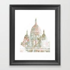 Paris on a hill Framed Art Print