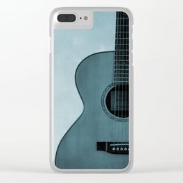 While My Guitar Gently Weeps Clear iPhone Case