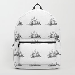 sailing ship . Home decor Graphicdesign Backpack