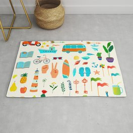 Summer icons Rug