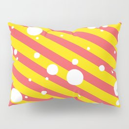 Candy Cane Snow Yellow and Red Pillow Sham