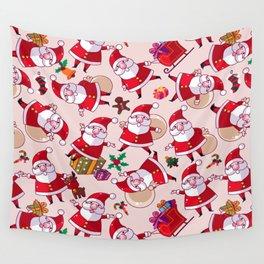 Santa Gift Pattern Wall Tapestry