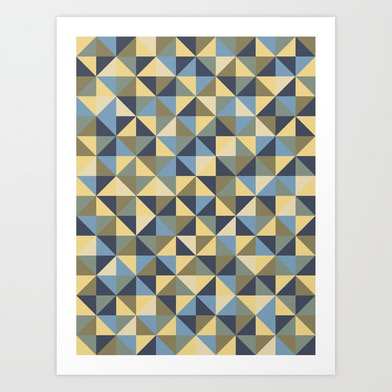 Shapes 003 ver 2 Art Print