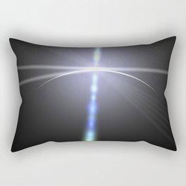 close to the moon lens flare Rectangular Pillow