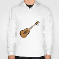 guitar Hoodies featuring Guitar by shopaholic chick