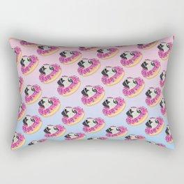 Pug Donut Strawberry Profile Rectangular Pillow