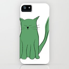 Green cat - mad kitty  iPhone Case