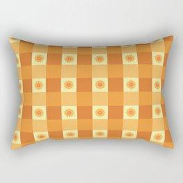 SUNFLOWER CHECK Rectangular Pillow