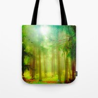 fairy tale Tote Bags featuring Fairy tale by Armine Nersisian
