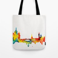 moscow Tote Bags featuring Moscow by Talula Christian