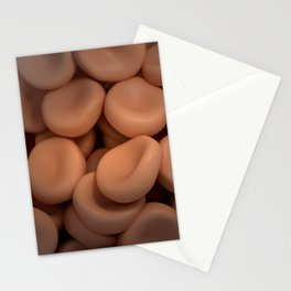 Conceptual image of red blood cells. Stationery Cards