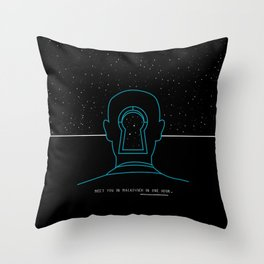 Meet you in Malkovich in one hour Throw Pillow