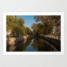 Lachine Canal Winding Art Print