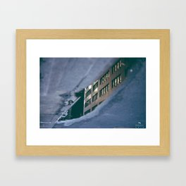 Building in the Puddle Framed Art Print
