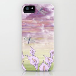 dragonfly love iPhone Case