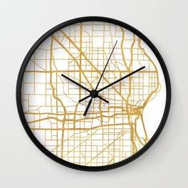 MILWAUKEE WISCONSIN CITY STREET MAP ART Wall Clock