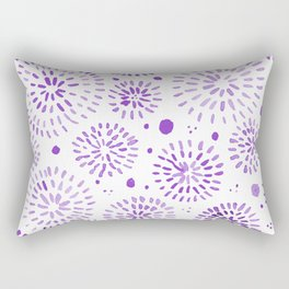 Abstract watercolor sparkles – ultra violet Rectangular Pillow