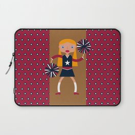 American Cheerleader with pom-poms Laptop Sleeve