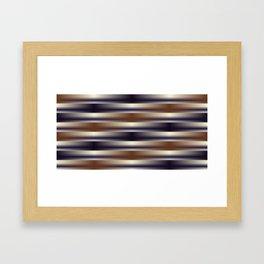 Black Brown and Tan Weave Pattern Framed Art Print