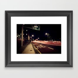the night life Framed Art Print