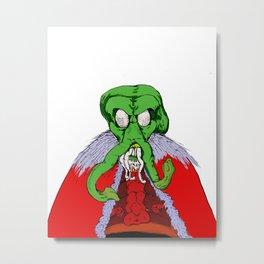 Merry Cthulumas - Father Cthulumas Metal Print