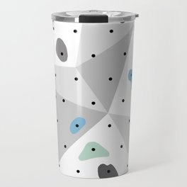 Abstract geometric climbing gym boulders blue mint Travel Mug