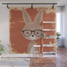 Hipster Bunny Wall Mural