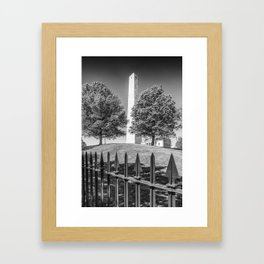 BOSTON Bunker Hill Monument | Monochrome Framed Art Print