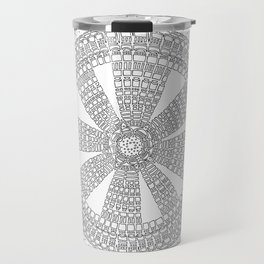 Pleasing on White Background Travel Mug