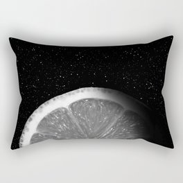 Waning Gibbous Lemon Moon Rectangular Pillow