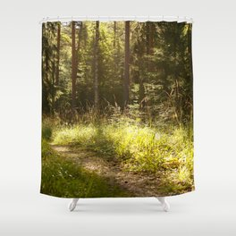 Forest Path Sunny Day #decor #society6 Shower Curtain