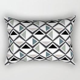 Gray Asymmetry Rectangular Pillow