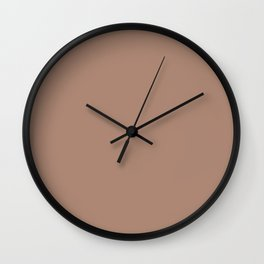 Cafe au Lait Color Accent Wall Clock