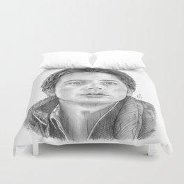 Marty McFly Portrait Duvet Cover