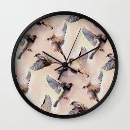Sparrow Flight Wall Clock