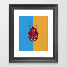 Art Deco Beetle Framed Art Print