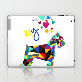 I love my schnauzer Laptop & iPad Skin