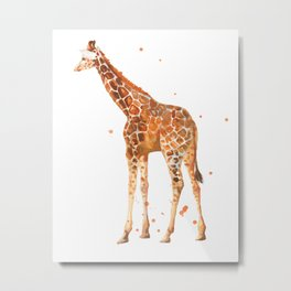 giraffe, african animals, wildlife, cute baby giraffe, nursery animals, safari Metal Print