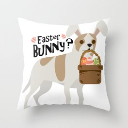 Chihuahua Easter Funny for Boys Girls Love Dog Puppy Throw Pillow