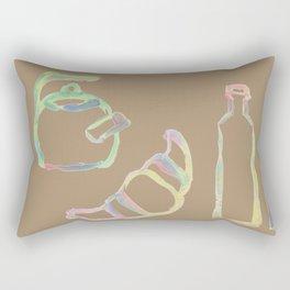 Rainbow Pastel Kitchen Rectangular Pillow