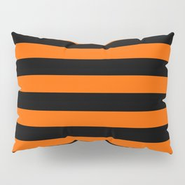 Black & Orange Stripes Pillow Sham
